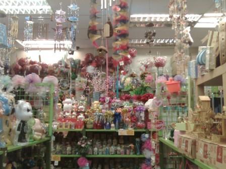Inside a craft store