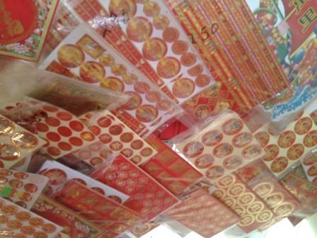 Stickers with cny theme for Ang pao decoration