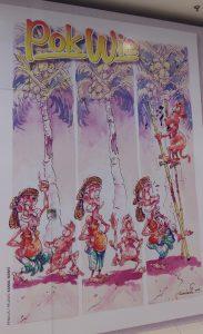 Gila Gila comic cartoons at Paradigm mall