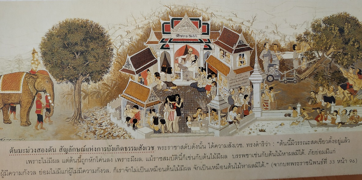 Thai Calendar of beautiful painting by Siam Exchange Bank